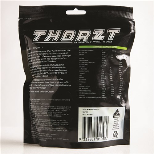 THORZT Sugar Free Solo Shot - 50 x 3gm Sachets - Lemon Lime