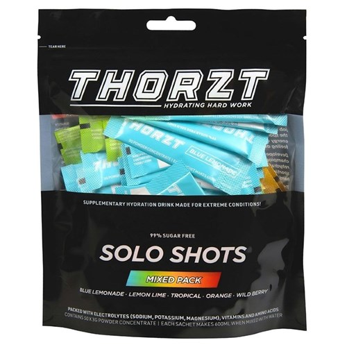 THORZT Sugar Free Solo Shot - 50 x 3gm Sachets - Mixed Flavours