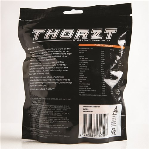 THORZT Sugar Free Solo Shot - 50 x 3gm Sachets - Orange