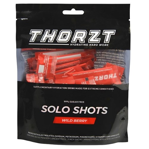 THORZT Sugar Free Solo Shot - 50 x 3gm Sachets - Wild Berry